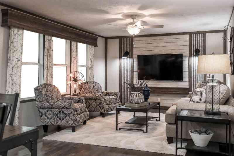 Living Room with Feature Wall