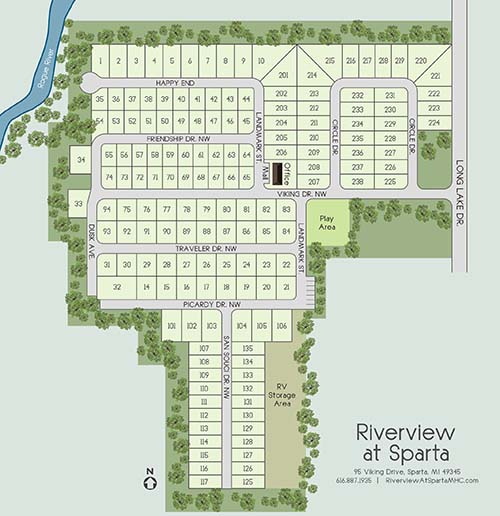 Riverview at Sparta Site Map